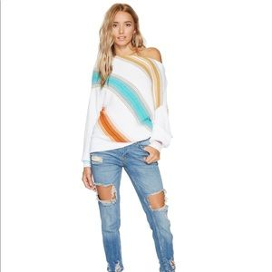 Free People Spectrum Stripe Sweater